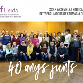 XXXX Assemblea sindical de Treballadors de farmàcia de Lleida